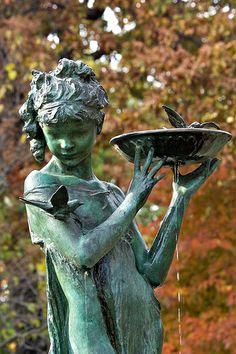 Bird Watcher statue, Central Park, New York City, NY