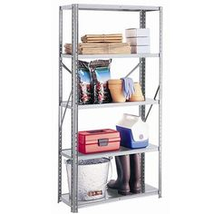 Galvanized Steel 5 Shelf Unit Garage Space Solutions Free Shipping #SpaceSolutions