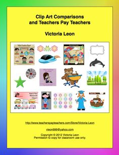 FREE Clip Art Comparisons and Teachers Pay Teachers - Go to http://pinterest.com/TheBestofTPT/ for this and thousands of free lessons.