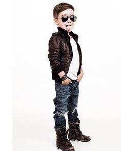 Boys fashion/ the bad boy look - I love the expression on his face. :D