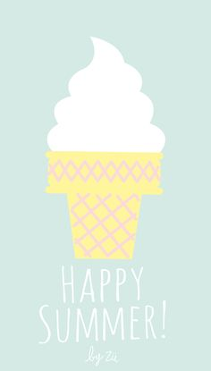 Happy Summer Sundae iPhone Wallpaper @PanPins