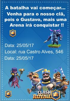 Clash Games provides latest Information and updates about clash of clans, coc updates, clash of phoenix, clash royale and many of your favorite Games Clash Games, Royal Party, Clash Of Clans, Lucas 11, Pastel, Harley Quinn, Video Games, Invitation Background, Invitation Birthday