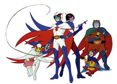 Gatchaman aka Battle Of The Planets - A five-member superhero team called G-Force fights to defend Earth and its space colonies from the threat of the planet Spectra.