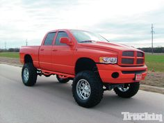 glossy red lifted dodge ram truck 4x4 - Red 2005 Dodge Ram 1500 Lifted
