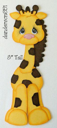Giraffe Zoo Animal Paper Piecing PreMade 4 Border Scrapbook Album danderson651