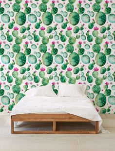▼▲▼ Inspired by Nature! ▼▲▼  Doll up your space with our magnificent, removable watercolour cactus -patterned self-adhesive wallpaper. Our bold and breathtaking peel and stick wallpaper is custom-made to your specifications, printed on a matte vinyl base.    ▼▲▼ Renters rejoice! ▼▲▼  Its remarkably easy to apply (no special tools, glue or adhesive necessary), and can be repositioned or removed just as easily, with no trace left behind. Make an impact with a single statement wall or apply to…