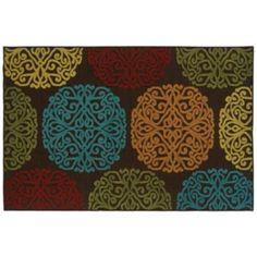 Oriental Weavers Lagos Floral Indoor Outdoor Rug - 5'3'' x 7'6''