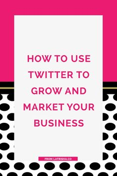 How to Use Twitter to Grow and Market Your Business Twitter is such a great tool to market and grow your business. More importantly, Twitter is one of the best ways that you can build real relationships with your ideal clients and build a community arou