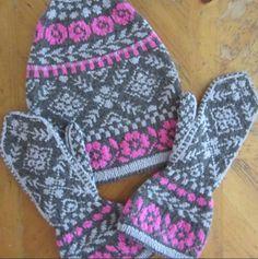 Ravelry: Three-piece Rose Pattern Set pattern by Deborah Newton Slouchy Hat, Stockinette, Needles Sizes, Mittens, Knitting, Rose, Ravelry, Pattern, Fingerless Mitts