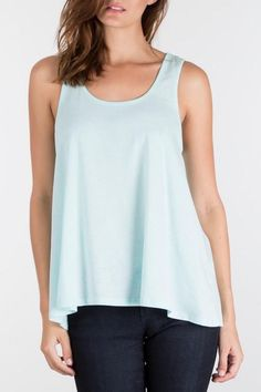 Stay simple in this relaxed fit tank. Crafted from our jersey knit burnout this tank is complete with a scoop neck.  The Minty Fresh Top by Apricot Lane. Clothing - Tops - Tees & Tanks Minnesota