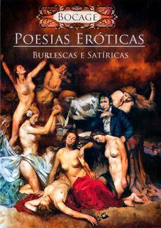 """Capa do livro """"Poesias Eróticas Burlescas e Satíricas"""" de Bocage."""