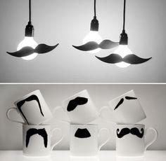 because even lightbulbs deserve mustaches..