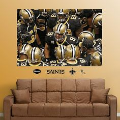 New Orleans Saints Huddle In Your Face Mural Josiah S Remodel