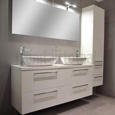 Landelijk badkamermeubel, badkamer waskom, waskommen, wit, badkamer ideeen, moderne badkamer