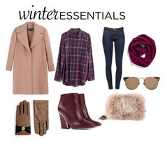 """""""Winter Essentials."""" by fashionovermatter ❤ liked on Polyvore featuring Rochas, Madewell, Frame Denim, Chloé, Ted Baker, Prada, Linda Farrow, Halogen and winteressentials"""