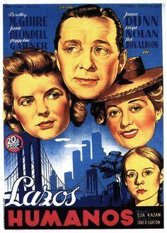 """""""Lazos humanos"""", """"A Tree Grows in Brooklyn"""" (1945). Director: Elia Kazan."""
