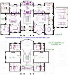 Cedar Wood Manor. There's basically no way I'd ever have a pipe organ loft, but the floor plan is pretty awesome.
