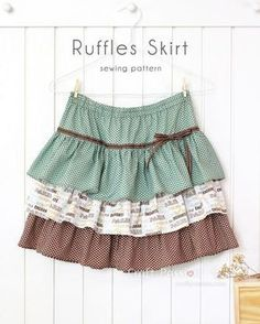 Craft Passion's Ruffles Skirt sewing pattern, can be easily adapted to any sizes by waist measurement & skirt length. Suit baby, toddler, teenager & adult. - Page 2 of 2 #babyskirts