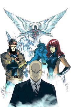 Original X-Men // Art by Peter Nguyen