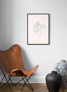 Horse Lines Poster Buy Posters Online, Horse Posters, America And Canada, Nordic Interior, Curved Lines, Butterfly Chair, Scandinavian Design, Order Prints, Horses