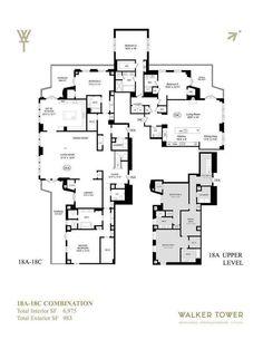 Huge $60M Walker Tower Combo Is A Bargain, Comparatively. Luxury Floor PlansChelsea  ...