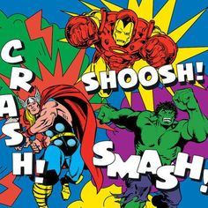 "East Urban Home 'Marvel Comics Retro Avengers' by Marvel Comics Graphic Art on Wrapped Canvas Size: 18"" H x 18"" W x 1.5"" D"