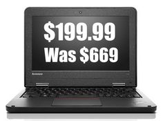 "Lenovo ThinkPad 11.6"" Ultraportable Intel Quad-Core Notebook $199.99 (Was $669) **Today Only** - http://www.swaggrabber.com/?p=291644"