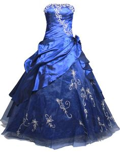 Faironly Strapless #M37 Formal Prom Dress Gown (M, Navy Blue)