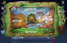 Pixie Hollow Map