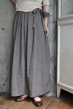 I think this is a skirt, but it would be nice as wide legged pants, too. Wool, with side buttons.