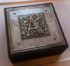 Monogrammed Cigar Box