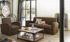 living room by elsaoules Sweet Home, Industrial, Couch, Living Room, Inspiration, Furniture, Acacia, Recherche Google, Home Decor