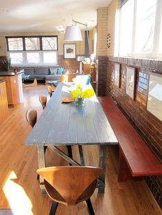 10 Narrow Dining Tables For A Small Dining Room: Table: Narrow Dining Tables For Cozy Dining Furniture – Modern House Long Narrow Dining Table, Long Narrow Kitchen, Long Dining Room Tables, Farm Dining Table, Farm Tables, Wood Tables, Kitchen Tables, Small Dining, Dining Rooms
