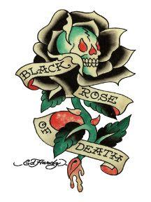 Temporary Tattoos Ed Hardy Dream Tattoos, Badass Tattoos, Body Art Tattoos, Sleeve Tattoos, Tatoos, Ed Hardy Designs, Ed Hardy Tattoos, Tattoo Tod, Death Tattoo