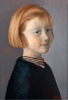 Scott E. Bartner (1960, American) | Little Girl With Red Hair (Laura Roovers)