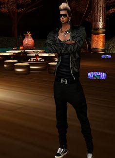 Captured Inside IMVU - Join the Fun! Virtual World, Imvu, Avatar, Leather Pants, Join, Angel, Dark, Jackets, Fashion