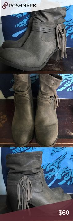 Booties Fall Fringe Booties! Worn Once! Shoes Ankle Boots & Booties