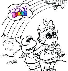 Kermit Muppet Babies Coloring Pages   Best Muppet Babies Coloring ...