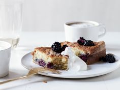 Buttermilk Cake with Blackberries | This absolutely lovely cake is tender and light, with tart, juicy little bites of blackberry in every bite. It will become your go-to summer cake.