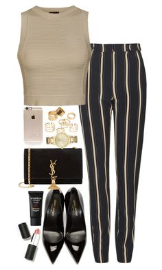 """""""Untitled #476"""" by flawedparadise ❤ liked on Polyvore featuring Topshop, Ally Fashion, Yves Saint Laurent, Smashbox, Pieces, Incase, Kate Spade and Sigma Beauty"""