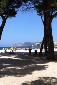 An afternoon at the beach in Santa Ponsa. The island of Mallorca, Spain.