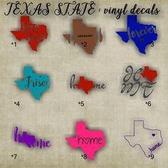 Texas State Sticker Texas Vinyl Decal State Of Texas Texas - Custom die cut vinyl car decals