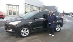 """Joyce, wishing you many """"Miles of Smiles"""" in your 2014 FORD ESCAPE!  All the best, Kunes Country Ford Lincoln of Delavan and DEANNA KLOSTERMAN."""