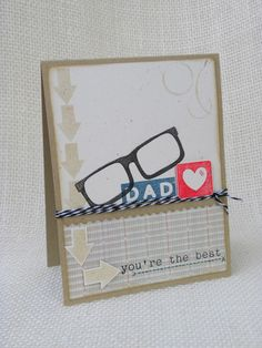 Cute Father's Day card - Precious Remembrance Shop Clear Stamps Cardmaking