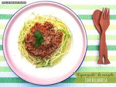Esparguete de curgete com bolonhesa