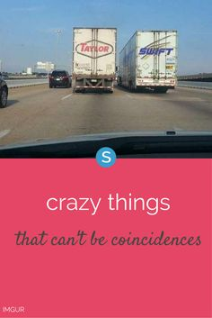 Sometimes things happen that have to be more than a mere coincidence.