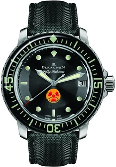 Blancpain Tribute to Fifty Fathoms. A modern Blancpain tribute to a vintage Blancpain watch. Possibly my very favorite watch of all time (excepting the almighty Speedmaster). It's hard to choose between the vintage and the modern.