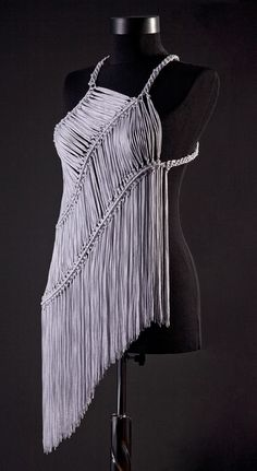 uniquastudio macrame top intense!!! but def something that could be done with t shirt yarn :-)