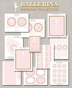 Ballerina Birthday Party Collection - DIY