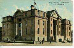 Guthrie Oklahoma Logan County Court House Vintage Postcard OKLA Antique Old OK | eBay